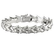 Italian Silver 7-1/2 Polished Link Bracelet, 12.0g - J382870