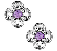 Carolyn Pollack Sterling Harmony Gemstone Button Earrings - J383170