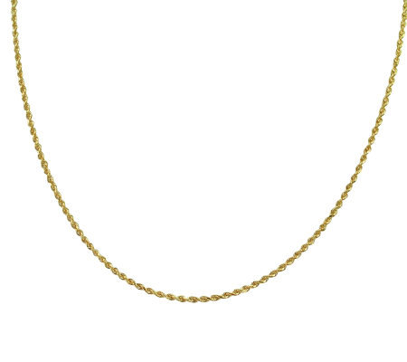 "EternaGold 18"" Solid Rope Chain Necklace, 14K Gold, 3.4g"