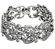 Carolyn Pollack Sterling Silver Signature Link Large Bracelet, 53.0g - J260471