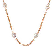 Honora Cultured Pearl 36 Keshi Bronze Station Necklace - J286371