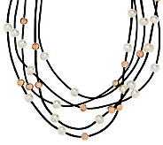 Honora Cultured Pearl Bronze Bead Multi-Cord Necklace - J286571