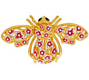 Joan Rivers Cherry Blossom Bee Pin - J286971