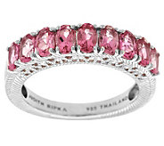 Judith Ripka Sterling and 1.70cttw Pink Tourmaline Band Ring - J287871