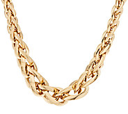 Arte dOro 18 Graduated Woven Spiga Necklace 18K Gold, 34.4g - J294871
