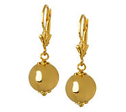 Veronese 18K Clad Polished Bead Drop Earrings - J299071