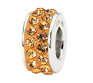 Prerogatives Sterling Orange Double Row Swarovski Crystal Bead - J299571