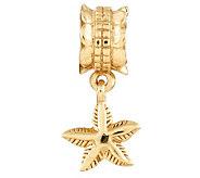 Prerogatives 14K Gold-Plated Sterling StarfishDangle Bead - J302871