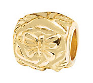Prerogatives 14K Gold-Plated Sterling ButterflyFloral Bead - J303171