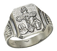 Sterling Silver Bold Scapular Ring - J303771