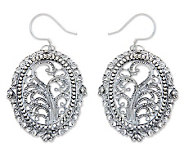 Novica Artisan-Crafted Sterling Filigree Sanctuary Earrings - J303871