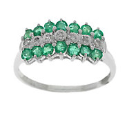 0.60 ct tw Emerald & Diamond Accent Ring, 14K Gold - J304771