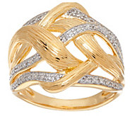Interwoven Diamond Ring, Sterling, 1/10 cttw, by Affinity - J321071