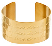 Stainless Steel Inspirational Extra Bold Cuff - J321471