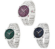 Ecclissi Facets Ruby or Sapphire Stainless Steel Watch - J322371