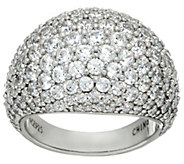 Diamonique Pave Domed Ring, Sterling - J326071