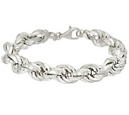 UltraFine Silver 7-1/4 Bold Polished Rope Bracelet 25.00g - J326671