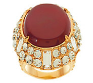 As Is Luxe Rachel Zoe Cabochon & Crystal Ornate Ring - J327771