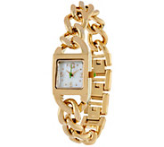 C. Wonder Mother-of-Pearl Dial Curb Link Bracelet Watch - J329371