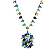 LOGO Links by Lori Goldstein Teardrop Cluster Necklace - J329471