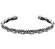 Sterling Silver Concha Cuff Bracelet by American West 13.5g - J330471