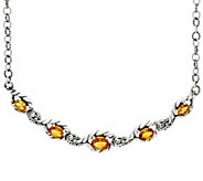Carolyn Pollack Sterling Silver 7.50 cttw Citrine Adj. Necklace - J330771