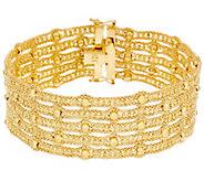 Arte dOro 8 Woven Bead Bracelet 18K Gold 35.5g - J331071