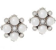 Judith Ripka Sterling Cultured Pearl & Diamonique Earrings - J333671