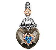 Barbara Bixby Sterling/18K Multi Gemstone Faceted Heart Charm - J336171