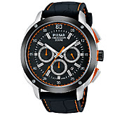 Pulsar Mens Black Dial Strap Watch - J337571