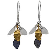 Sterling Tri-Color Dangle Earrings by Or Paz - J338371