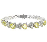 Judith Ripka Sterling Gemstone Heart Tennis Bracelet, 7-1/2 - J338971
