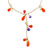 Sterling & 14K Gold-Plated Gemstone Y  Necklace - J339271