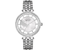 Caravelle New York Womens Silvertone Crystal Bracelet Watch - J339771