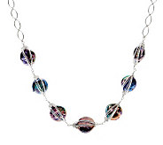 Honora Coin Cultured Pearl & Chain 18 Necklace, Sterling - J340071