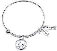 Extraordinary Life Sterling Love Shaker Charm Bangle - J340971