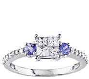 1/2 cttw Diamond & Tanzanite Ring, 14K Gold, byAffinity - J341571