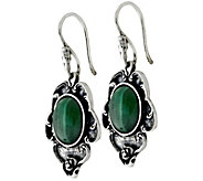 Sterling Malachite Dangle Earrings by Or Paz - J341871