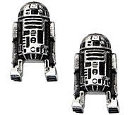 Star Wars Stainless Steel R2-D2 3D Stud Earrings - J342471