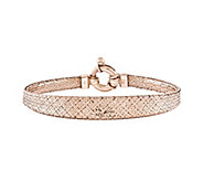 14K Gold Mesh Woven 7-1/4 Bracelet - J342571