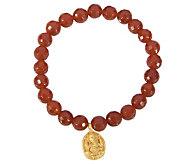 Satya 7.5 mm Gemstone Bead Stretch Bracelet - J342771