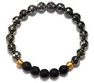Satya Pyrite and Black Onyx Stretch Bracelet - J342871