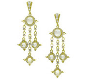 Judith Ripka Sterling & 14K Clad Moonstone DropEarrings - J343271