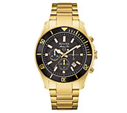 Bulova Mens Chronograph Marine Star Goldtone Watch - J343571