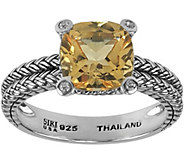 Sterling 2.00 ct Citrine and White Topaz Accent Ring - J344971
