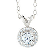 Halo Pendant, 14K White Gold, 1/4 cttw, by Affinity - J345271