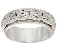 Sterling Silver Byzantine Spinner Ring by Silver Style - J346071