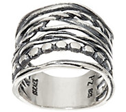 Sterling Silver Multi-Row Textured Band Ring by Or Paz - J346671