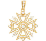 Judith Ripka Sterling & 14K Clad Diamonique Maltese Cross Enhancer - J348071