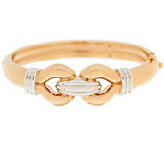 As Is 14K Gold Average Two-Tone Interlocking Bangle - J350371